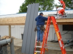 Roofing the Small Dog Outdoor Kennels